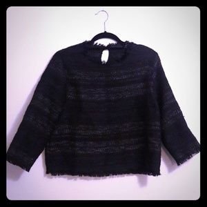 Zara Basic Tweed Top